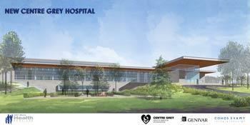 Artist's Rendering of New Centre Grey Hospital