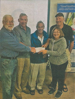 Shown, from left: Dan Rose (hospital foundation), Harry Hartrick, Clay Pennylegion, Irene Hartrick, and Terry McComb