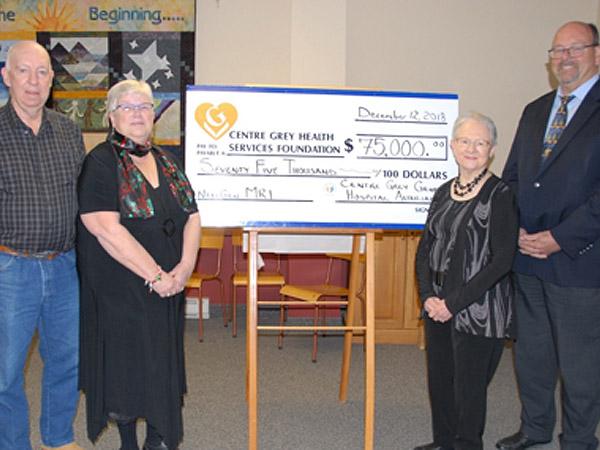 MRI Donation cheque presentation
